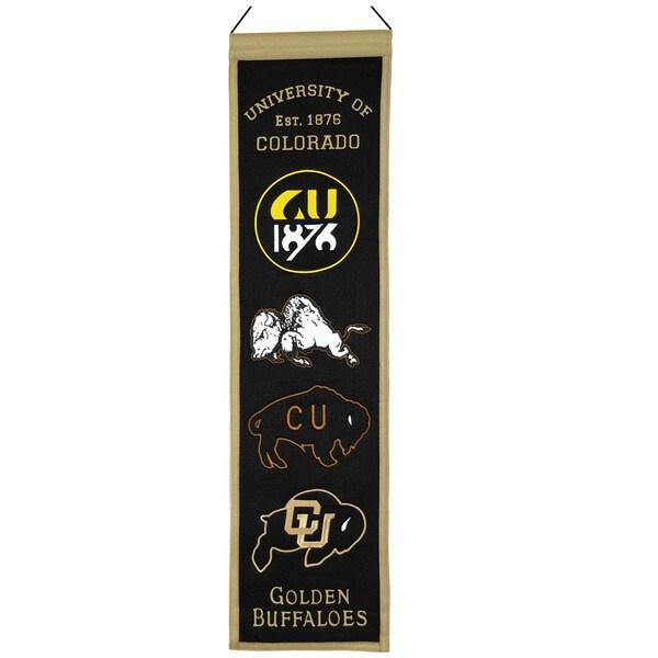 NCAA Colorado Buffalo Wool Heritage Banner