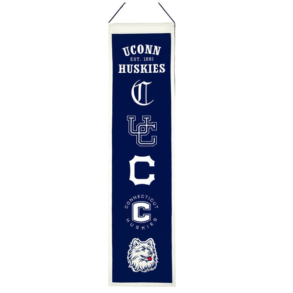NCAA Connecticut Huskies Wool Heritage Banner