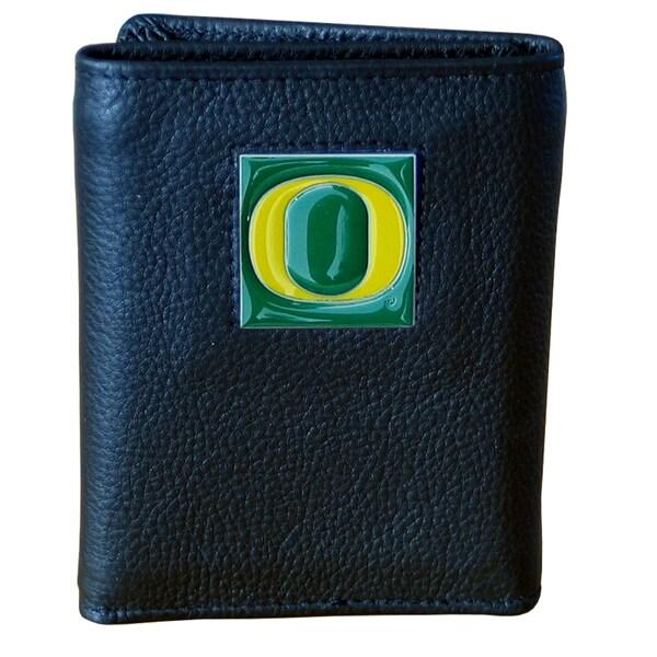 NCAA Oregon Ducks Executive Leather Tri-fold Wallet