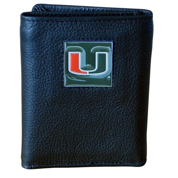 NCAA Miami Hurricanes Executive Leather Tri-fold Wallet