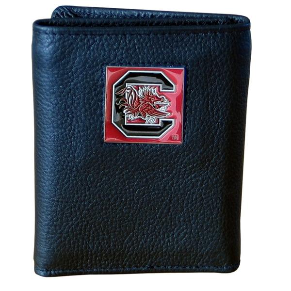 NCAA South Carolina Gamecocks Leather Tri-fold Wallet