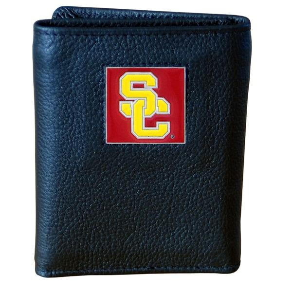NCAA USC Trojans Executive Leather Tri-fold Wallet