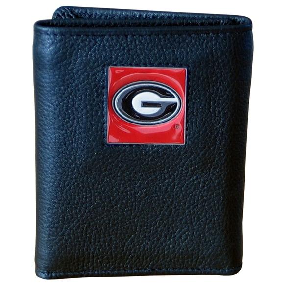 NCAA Georgia Bulldogs Executive Leather Tri-fold Wallet
