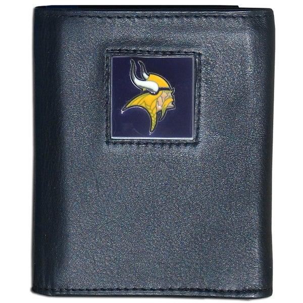 NFL Minnesota Vikings Executive Leather Tri-fold Wallet