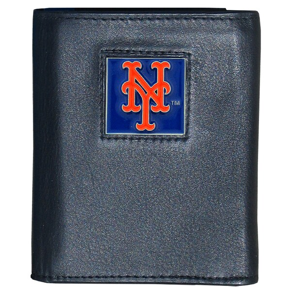MLB New York Mets Executive Leather Tri-fold Wallet