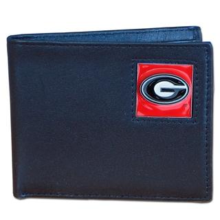 NCAA Georgia Bulldogs Executive Leather Bi-fold Wallet