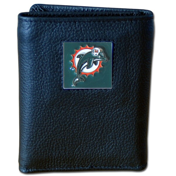NFL Miami Dolphins Executive Leather Tri-fold Wallet