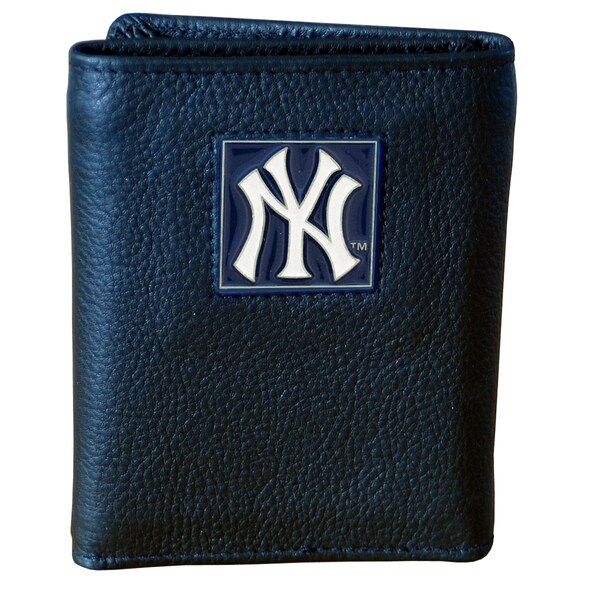 MLB New York Yankees Executive Leather Tri-fold Wallet