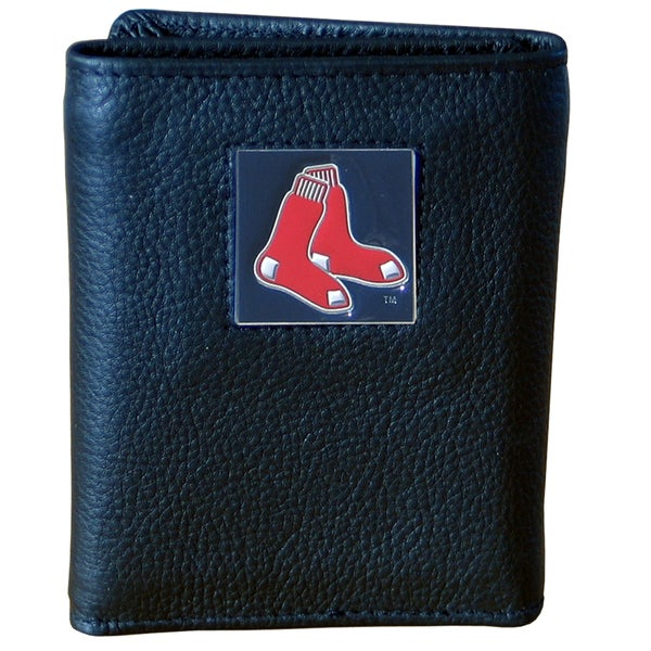 MLB Boston Red Sox Executive Leather Tri-fold Wallet