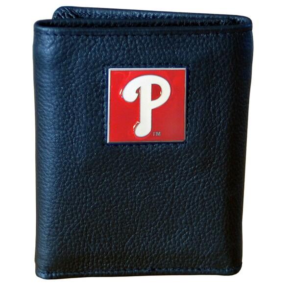 MLB Philadelphia Phillies Leather Tri-fold Wallet