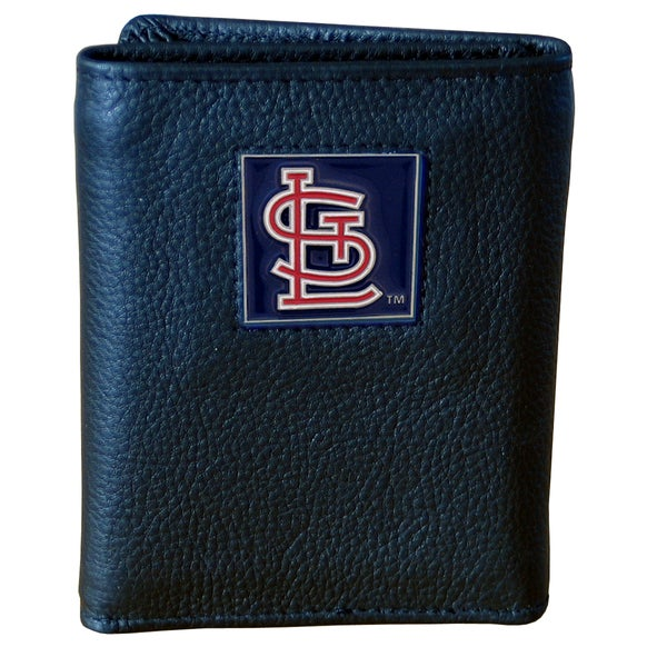 MLB St. Louis Cardinals Leather Tri-fold Wallet