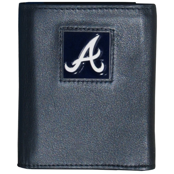 MLB Atlanta Braves Executive Leather Tri-fold Wallet