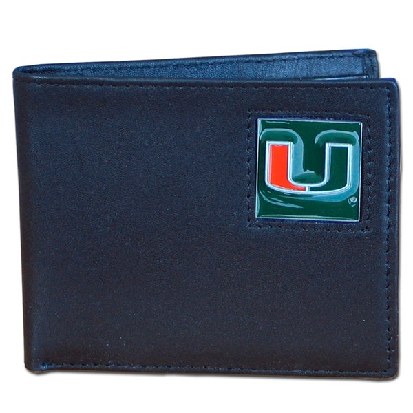 NCAA Miami Hurricanes Executive Leather Bi-fold Wallet