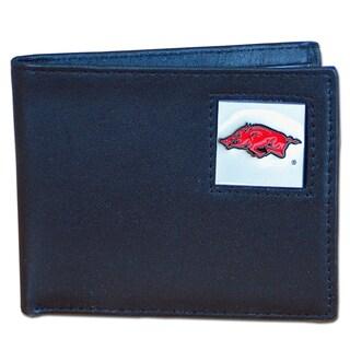 NCAA Arkansas Razorbacks Leather Bi-fold Wallet