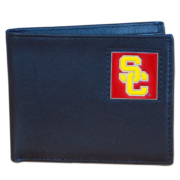NCAA USC Trojans Executive Leather Bi-fold Wallet