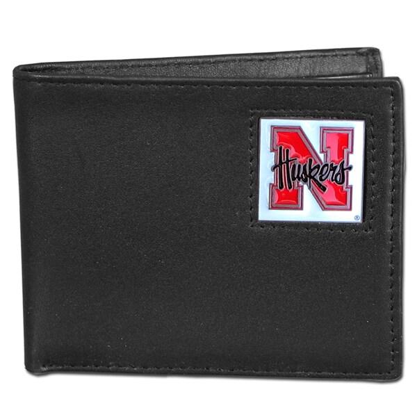 NCAA Nebraska Cornhuskers Leather Bi-fold Wallet
