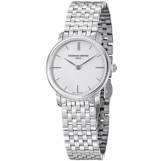 Frederique Constant Women's 'Slim Line' Stainless Steel Quartz Watch