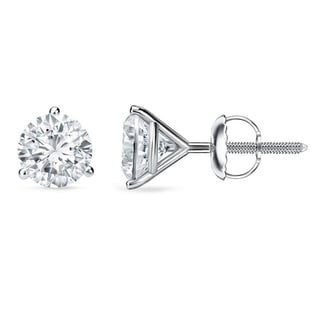 Auriya 18k Gold 1 to 2ct TDW GIA Certified Martini Diamond Stud Earrings (F-G, VS1-VS2)