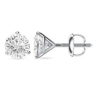Auriya 18k Gold 1 to 2ct TDW GIA Certified Martini Diamond Stud Earrings