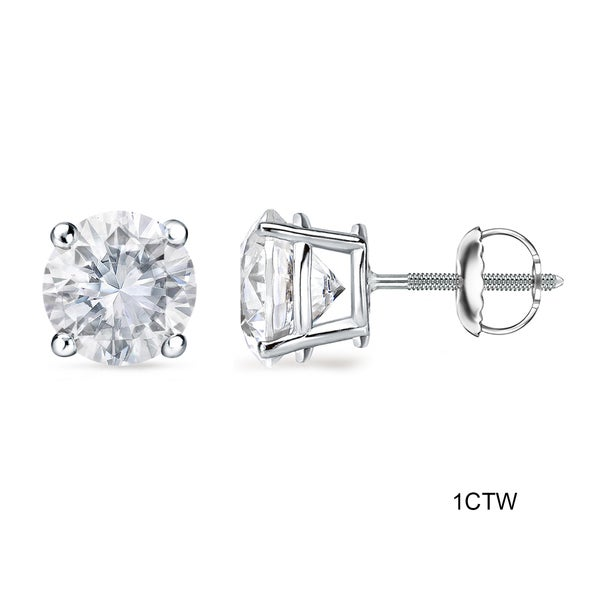 Auriya Platinum 1 To 2ct Tdw Gia Certified Diamond Stud Earrings