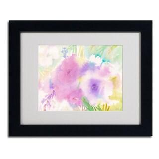 Sheila Golden 'Purple Magic' Framed Matted Art