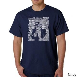 Los Angeles Pop Art Men's Uncle Sam T-shirt