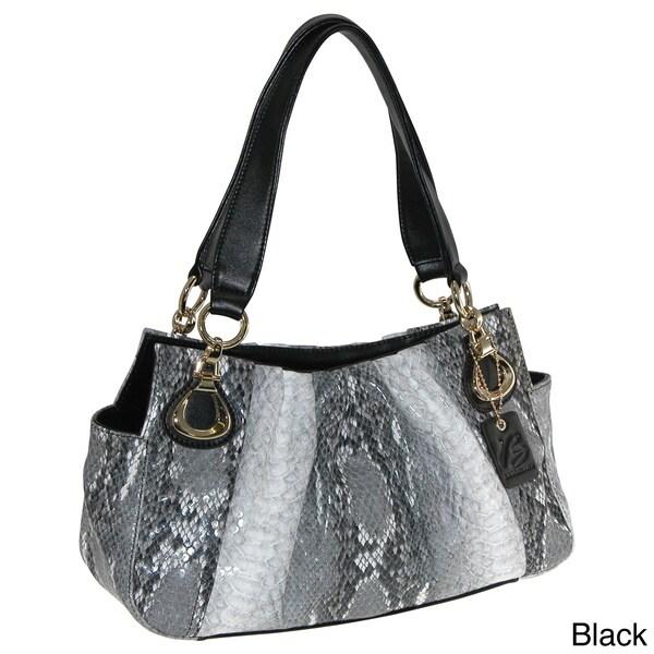 Buxton 'Serafina' Embossed Python Print Shoulder Bag