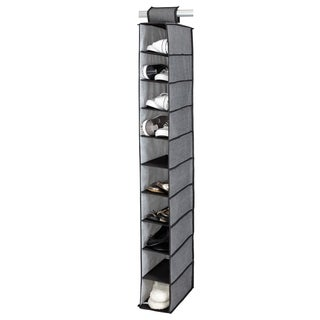 Kennedy Home Collection Grey 10-shelf Shoe Organizer