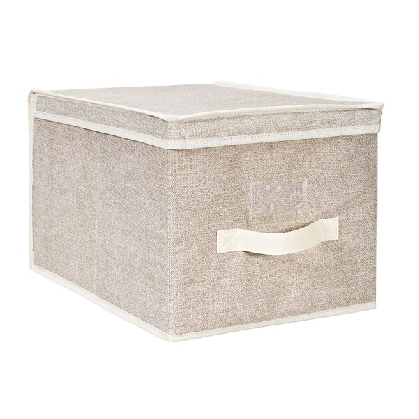 Kennedy Home Collection Beige Large Storage Box