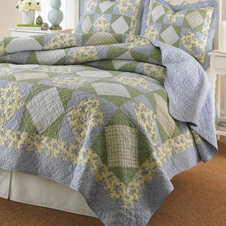Shop Laura Ashley Caroline Reversible Floral 3 Piece Quilt Set Free Shipping Today Overstock