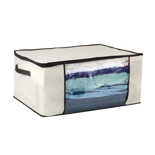 Cream Black Blanket Storage Bag Free Shipping On Orders