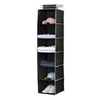 6-shelf Black/ Cream Sweater Organizer