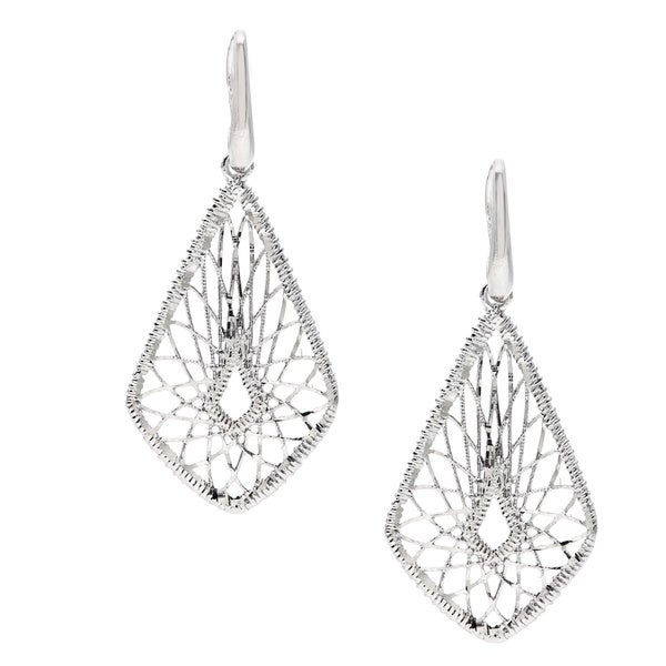 La Preciosa Sterling Silver Diamond-Cut Dangling Earrings