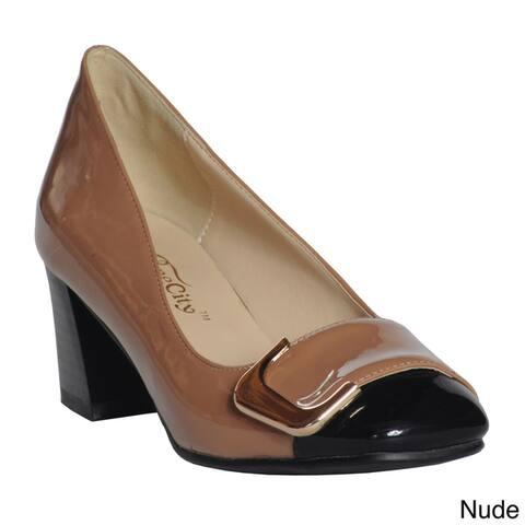 1a3d56c9ca10c Ann Creek Women s  Angela  Buckle Pump Heels