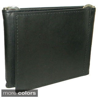 Men's Leather Bifold Top-Flap Zipper Wallet