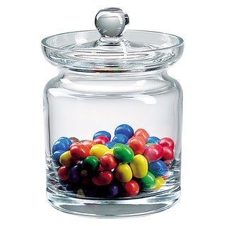 Mouth Blown Glass 5.5-inch Biscuit/ Candy Jar