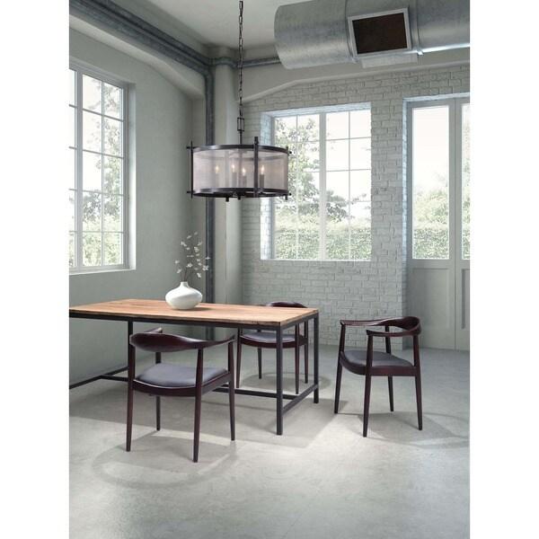 Greenwich Dark Walnut/Black Poly Wood Chair (set of 2)