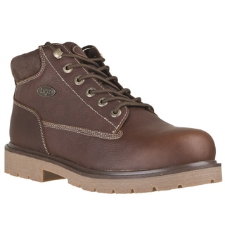 Lugz Men's 'Drifter' Coffee Grainy Leather Lace-up Boots