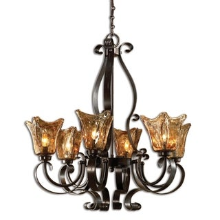 Uttermost Vetraio 6-light Oil Rubbed Bronze Chandelier