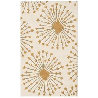 Safavieh Handmade Bella Beige/ Gold Wool Rug (3' x 5')