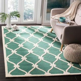 Safavieh Cambridge Teal/ Ivory Handmade Moroccan Wool Area Rug (5' x 8')