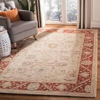 Safavieh Handmade Anatolia Oriental Taupe/ Red Hand-spun Wool Rug - 8' x 10'