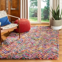 Safavieh Handmade Nantucket Abstract Chevron Multicolored Cotton Rug - 6' Round