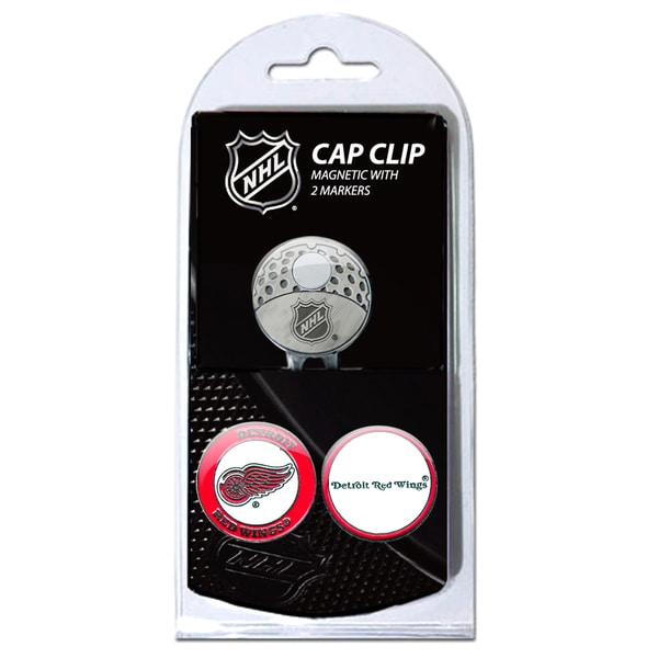 NHL Detroit Red Wings Magnetic Cap Clip and Marker Set