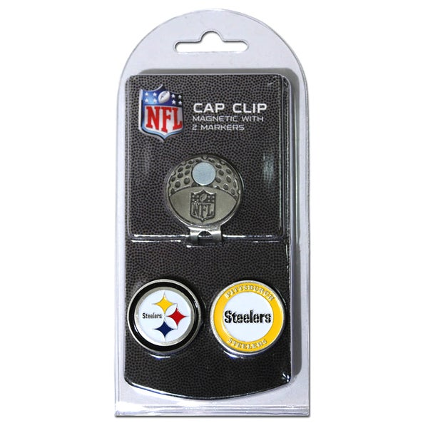 NFL Pittsburgh Steelers Magnetic Cap Clip and Marker Set