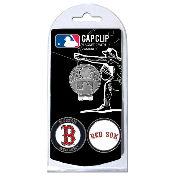 MLB Boston Red Sox Magnetic Cap Clip and Marker Set