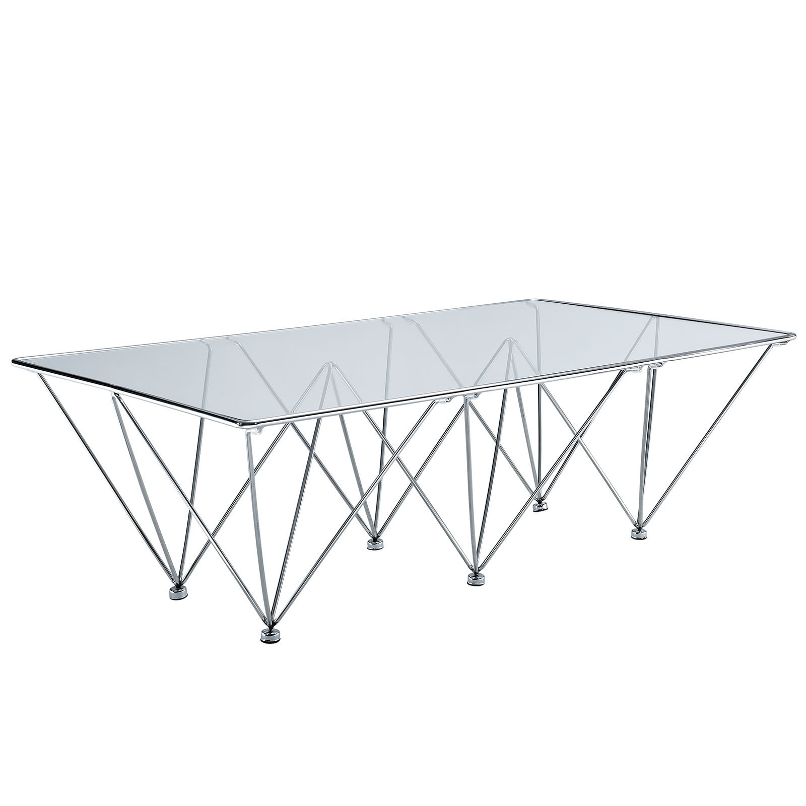 Shop Prism Rectangular Glass Coffee Table Free Shipping Today