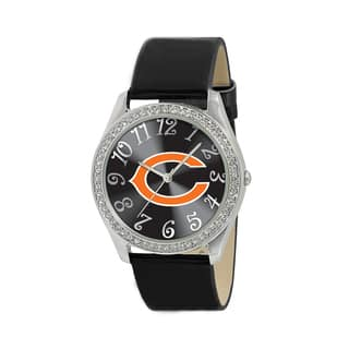 NFL Chicago Bears Women's Glitz Patent Leather Watch|https://ak1.ostkcdn.com/images/products/8554371/NFL-Chicago-Bears-Womens-Glitz-Patent-Leather-Watch-P15831988.jpg?impolicy=medium