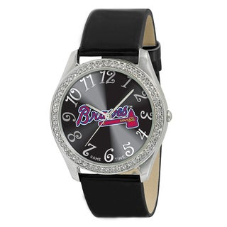 MLB Atlanta Braves Women's Glitz Patent Leather Watch