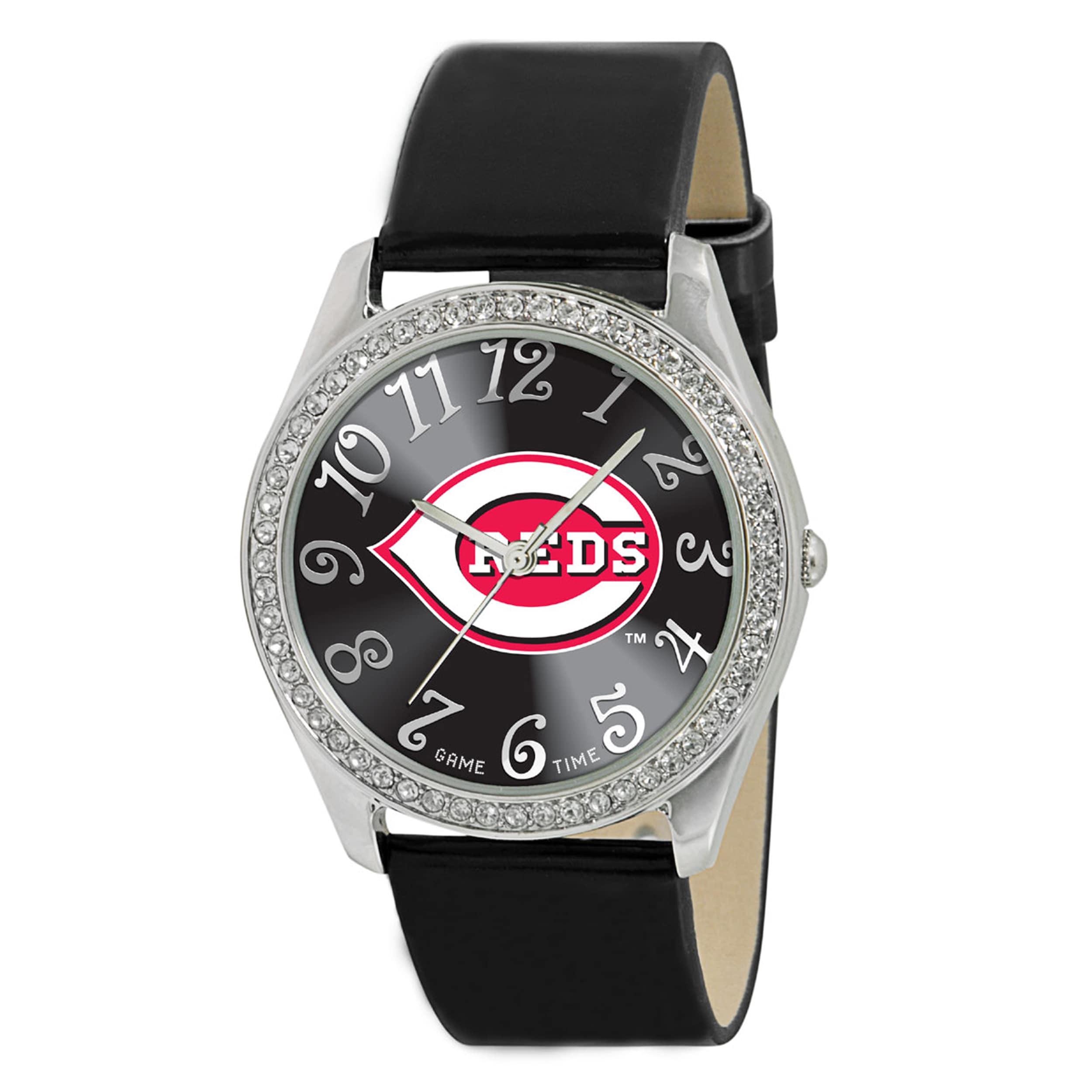 Gametime MLB Women's Cincinnati Reds Glitz Watch, Silver